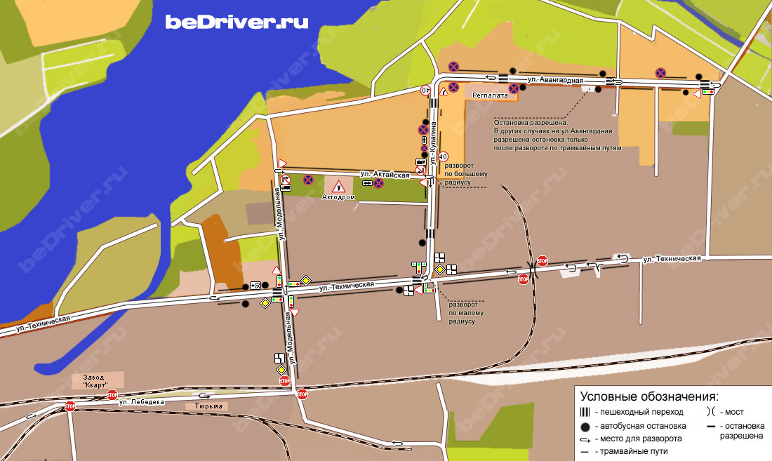 Карта маршрута beDriver.ru